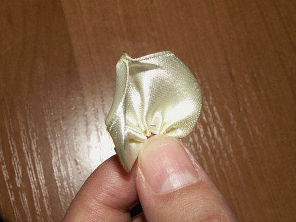 ساخت گل رز روبانی