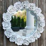 آموزش تزیین آینه قدیمی با گل های ساخته شده از شانه تخم مرغ