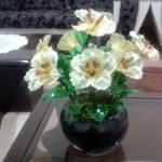 آموزش گل شیشه ای کاری بسیار زیبا و شکیل در خانه
