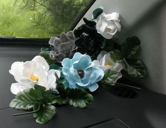 ساخت گل رز با قاشق پلاستیکی کاردستی بسیار جذاب + تصاویر