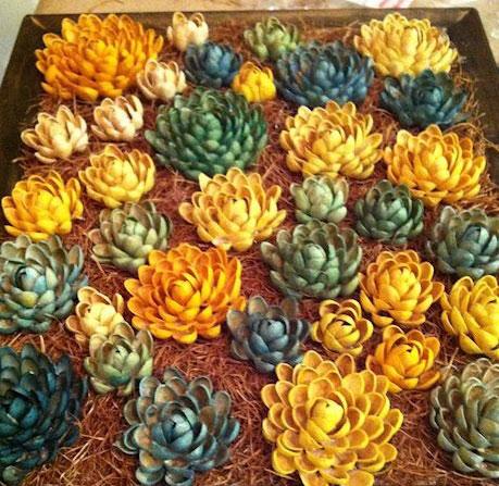 ساخت گل با پوست پسته کاری بسیار بسیار زیبا و خالاقانه