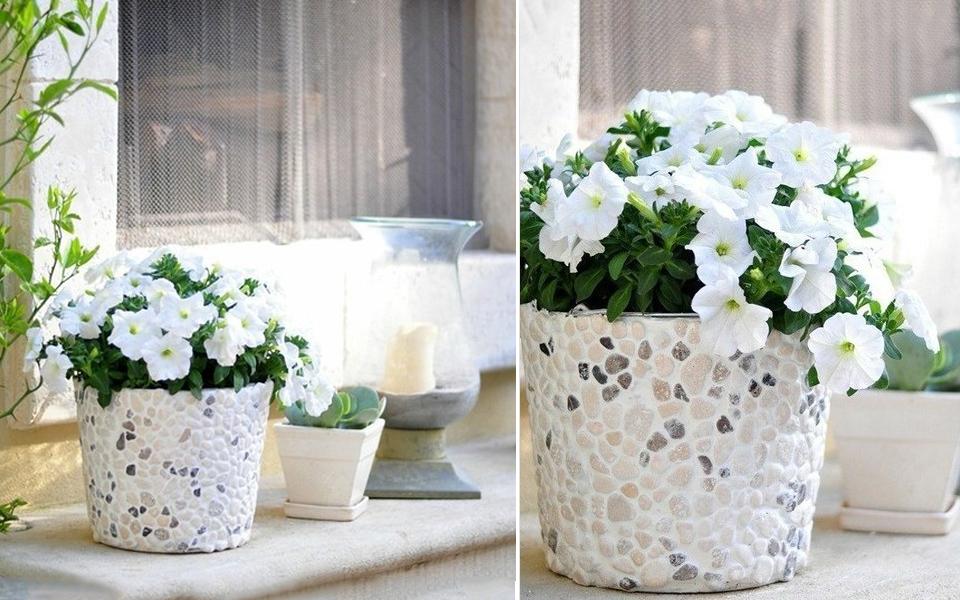 آموزش تزیین گلدان
