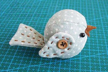آموزش دوخت عروسک پرنده کاری بسیار راحت با پارچه