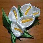 آموزش گل شیپوری با روبان گلی زیبا مانند تمام گلهای زیبای دیگر