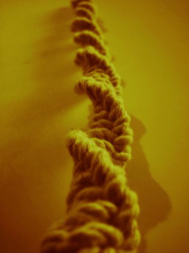 آموزش ساخت طناب مارپیچی با گره های پیچ پیچی