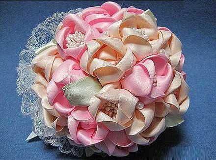 ساخت دسته گل عروس