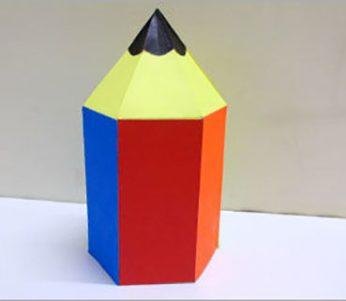 آموزش ساخت کاردستی جعبه مداد رنگی شکل مداد