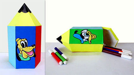 کاردستی جعبه مداد رنگی