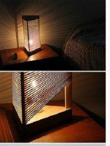 آموزش ساخت کاردستی چراغ خواب هرمی