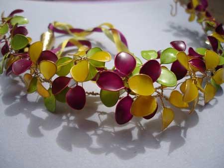 ساخت گل با سیم و لاک