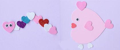 کاردستی با الگوی قلب