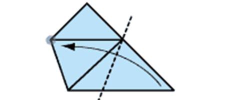 اوریگامی ساده لیوان