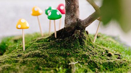 آموزش مرحله به مرحله ساخت کاردستی مینی قارچ تزیینی برای کودکان