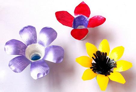 آموزش مرحله به مرحله ساخت کاردستی گل با بطری پلاستیکی