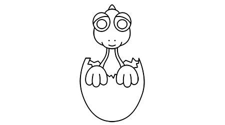 نقاشی دایناسور کوچولو