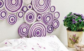 آموزش تزئین دیوار اتاق خواب با روزنامه