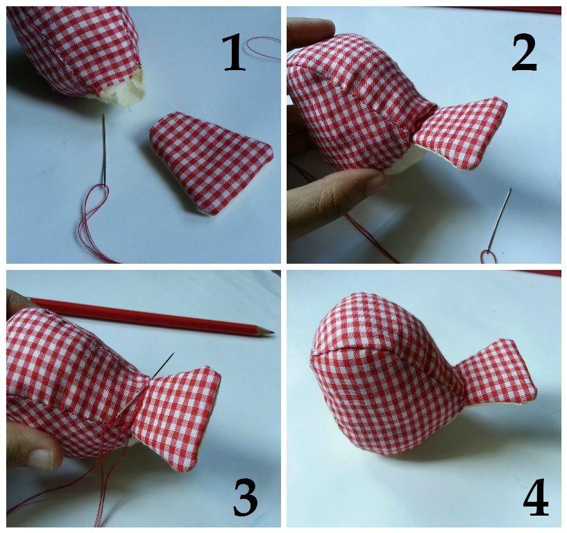 درست کردن عروسک پرنده پارچه ای
