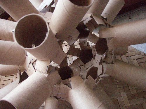 درست کردن لوستر با لوله کاغذ توالت