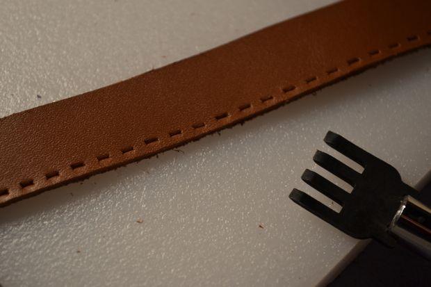 درست کردن دستبند چرمی ساده