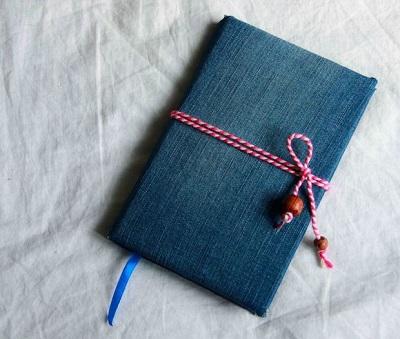 آموزش درست کردن دفتر یادداشت با جلد پارچه ای