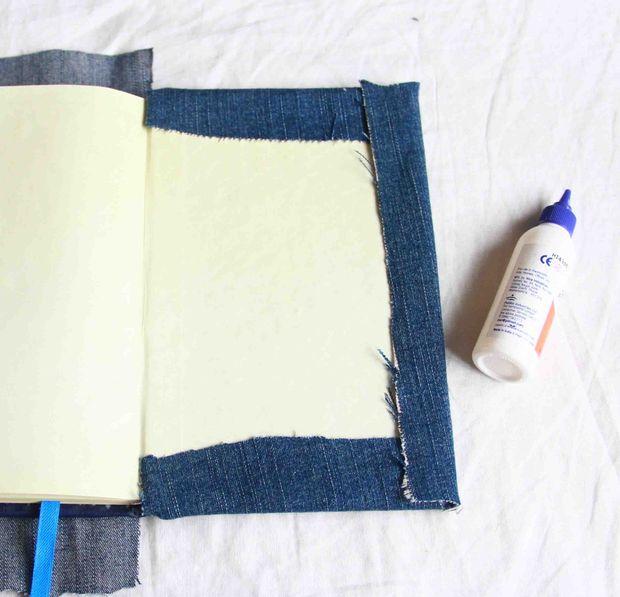 درست کردن دفتر با جلد پارچه ای