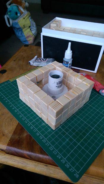 ساخت چراغ خواب چوبی
