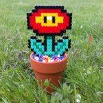 آموزش ساخت گلدان تزیینی با مهره های پلاستیکی