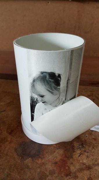 چاپ عکس روی گلدان