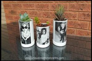 گلدان پلاستیکی بسازید و عکس دلخواه تان را رویش چاپ کنید