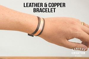 دستبند چرمی مسی ساده و شیک بسازید