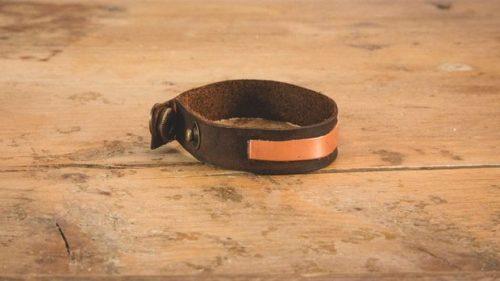دستبند چرمی مسی
