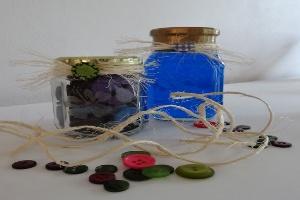 با شیشه های مربا جعبه کادویی شیشه ای بسازید