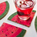 ساخت زیر لیوانی طرح هندوانه مخصوص شب یلدا