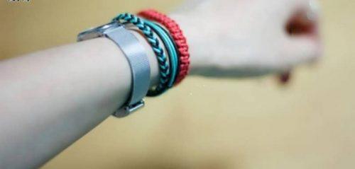 دستبند دوستی چرمی