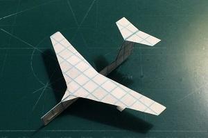 هواپیمای کاغذی مدل توربوجت بسازید