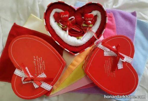 جعبه کادو قلبی