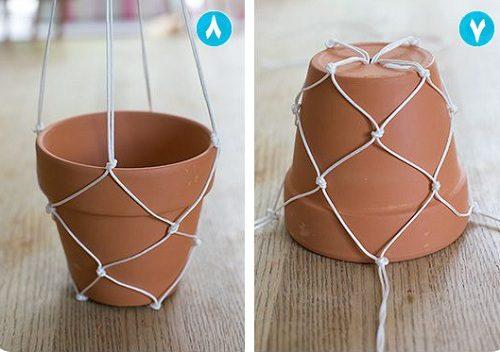 ساخت آویز گلدان