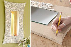 آموزش ساخت آینه بسیار زیبا با تکه های ظروف شکسته