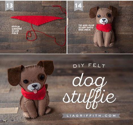عروسک سگ نمدی