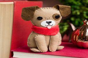 آموزش دوخت عروسک سگ نمدی زیبا