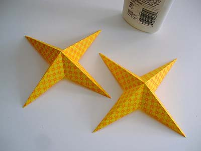 آویز ستاره کاغذی