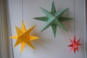 آموزش ساخت آویز ستاره کاغذی