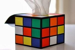 آموزش ساخت جعبه دستمال کاغذی به شکل مکعب روبیک