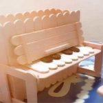 ساخت کاردستی پیانو با چوب بستنی
