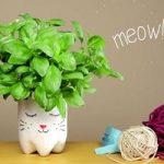 آموزش تصویری ساخت گلدان طرح گربه