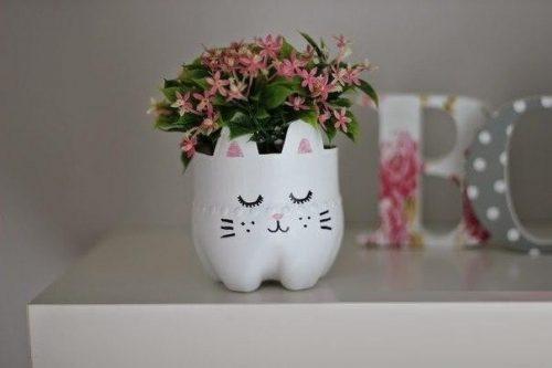 ساخت گلدان طرح گربه