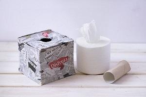آموزش ساخت جای دستمال کاغذی با روزنامه