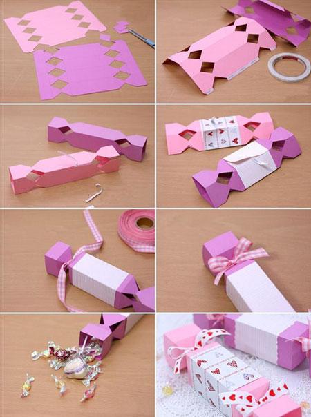 ساخت جعبه کادو شکلاتی