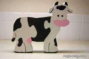 آموزش ساخت کاردستی گاو با ایده جالب برای کودکان