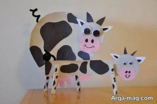 ساخت کاردستی گاو